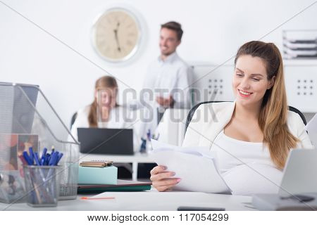 Woman During Pregnancy And Career