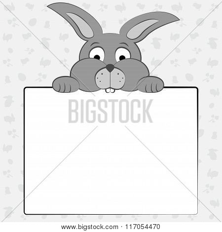 Bunny Is Holding A Sheet Of Paper .