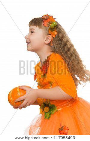 Girl suit autumn