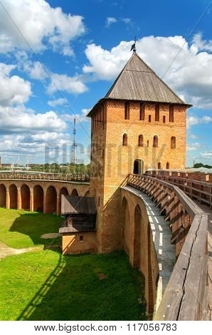 Novgorod Fortress With Towers