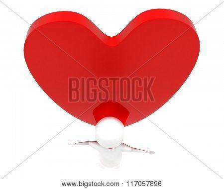 3Dsuper Hero Flying - Valentine Concept