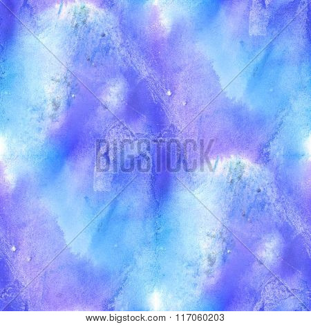 seamless watercolor background  abstract blue purple texture art pattern, water paper design wallpap