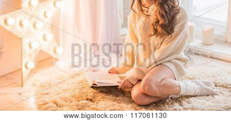 women with book