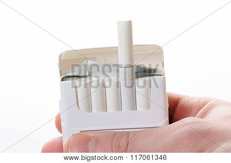 Pack Cigarette In Hand
