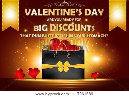 Valentine's Day advertising poster