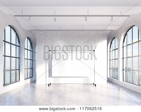 Empty Hall With Panoramic Windows
