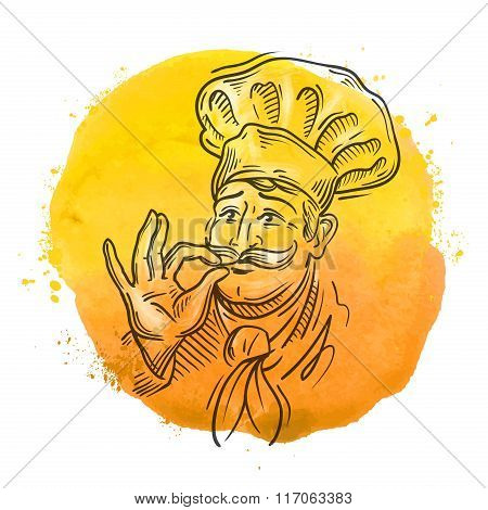 chef vector logo design template. cooking or cuisine icon