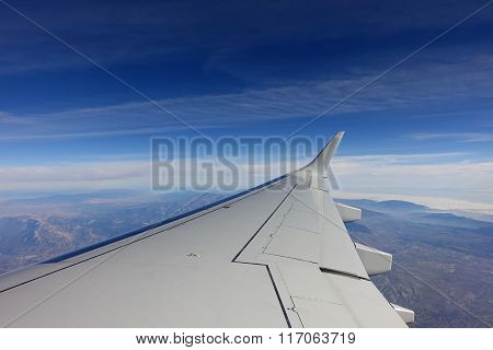 View out of aeroplane window