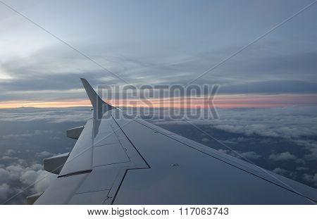 View through aeroplane window