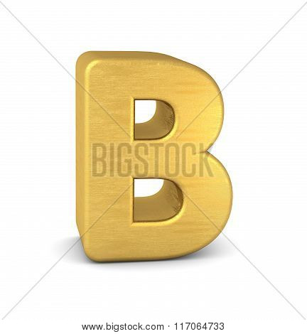 3D Letter B Gold