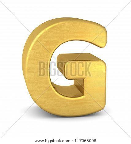 3D Letter G Gold