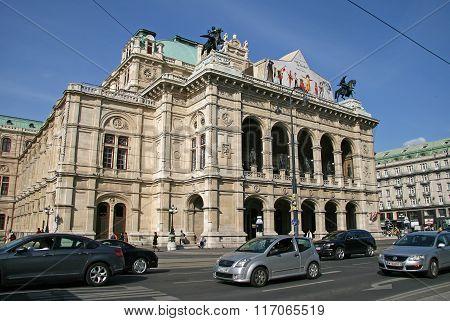 Vienna, Austria - April 22, 2010: Vienna State Opera House (staatsoper), Austria