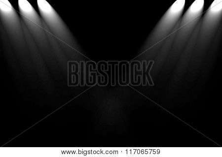 dark wall with spotlight background