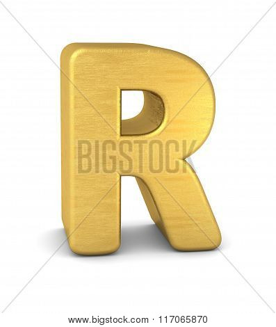 3D Letter R Gold