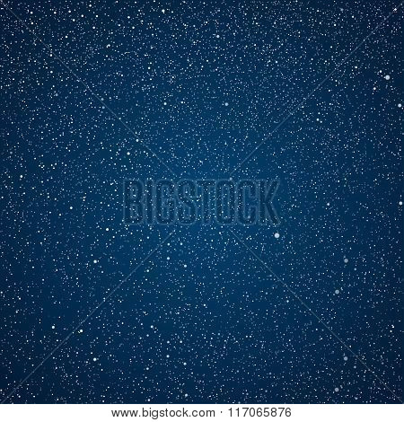 Vector background. The night the starry sky.