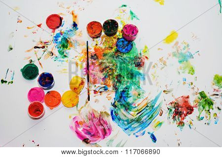 Children's Drawing Finger Paints