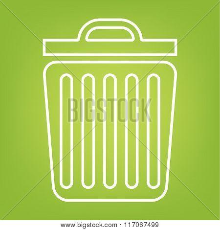 Trash line icon