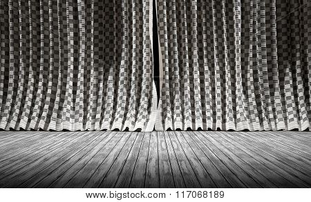 Abstract background. Fabric texture Curtains.