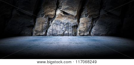 Concrete and rock floor background