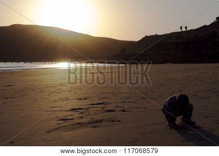 Santa Barabara California Beach Sunset