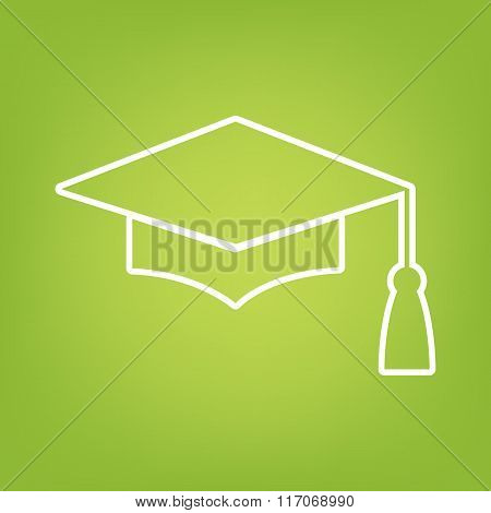 Mortar Board or Graduation Cap line icon