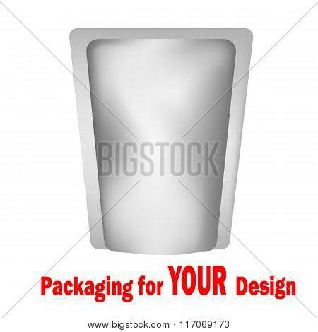 White Blank Foil Food Or Drink
