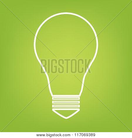 Light lamp sign line icon