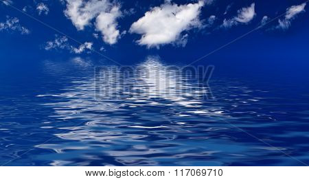 sky in  the background of the sea
