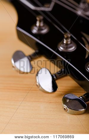 Part Of Black Guitar Head