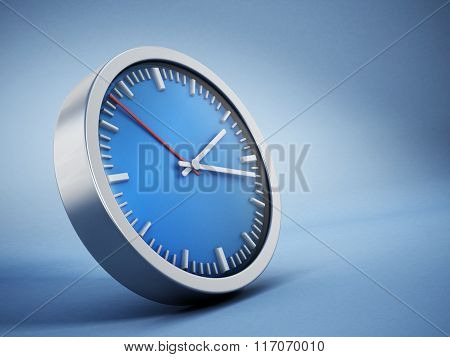 Blue Clock Background