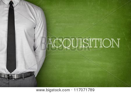 Acquisition text on blackboard