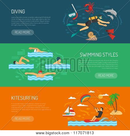 Water Sport Horizontal Banners
