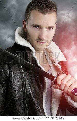 fictional character - handsome warrior