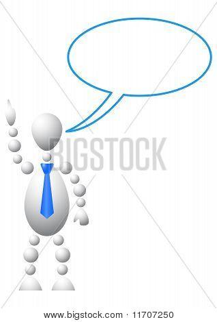 Hombre con burbuja de vacío Chat