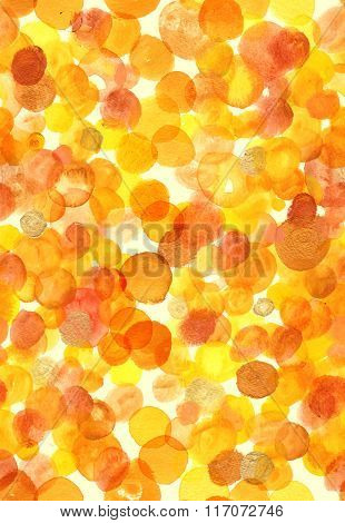 Abstract Seamless Watercolor Background Pattern With Golden Dots