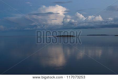 desert island on Ladoga lake, Karelia