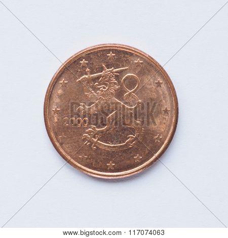 Finnish 5 Cent Coin