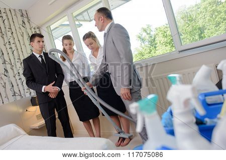 teaching how to clean