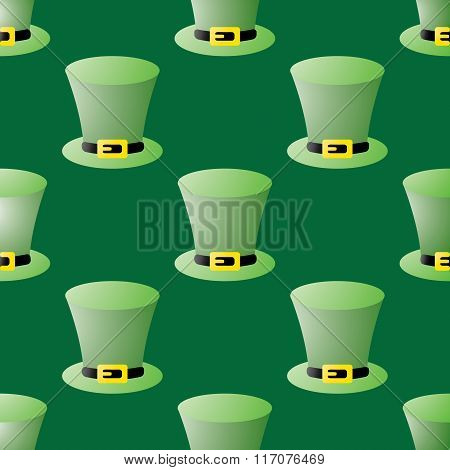 Seamless Patrick Day Pattern With Leprechaun Hats