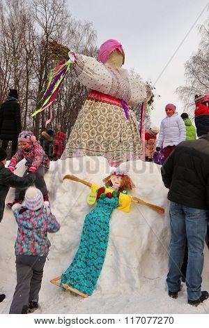 Scarecrow For Festive Holiday Maslenitsa