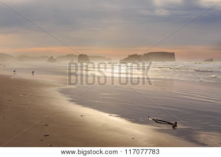 Sunset at Bandon Beach