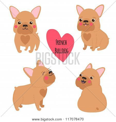 Cute French Bulldog Set