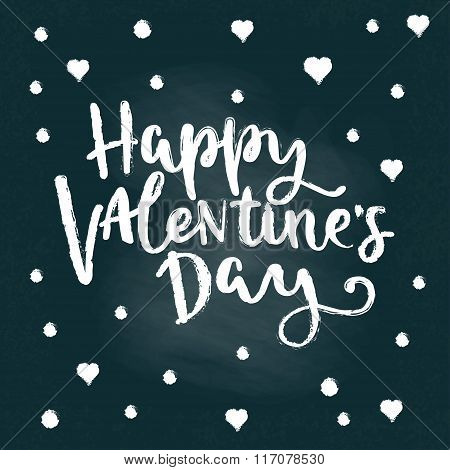 Vector Lettering Quote Happy Valentines Day.