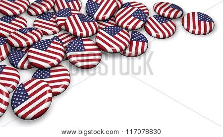 Usa Flag Button Badges