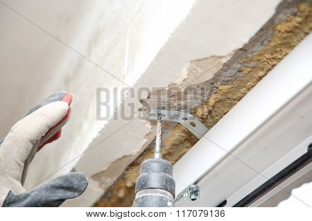Electric Drill Make Renovation Indoor