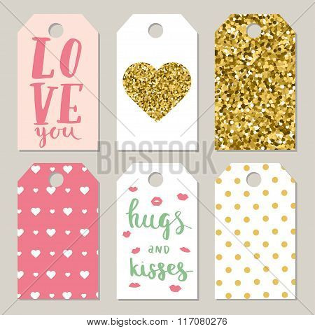 Set Of Valentines Day Tags