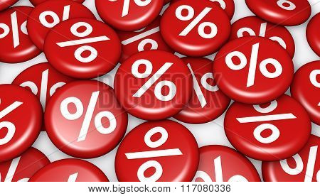Shopping Sale Discount Symbol Buttons