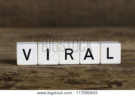The Word Viral Written In Cubes