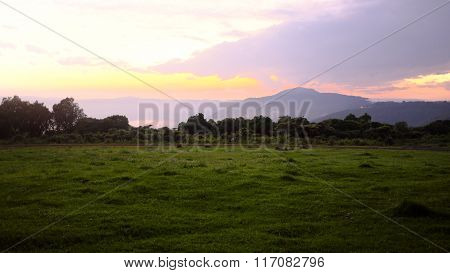 Landscape From Camp While Safari In The Ngorongoro, Tanzania, Africa