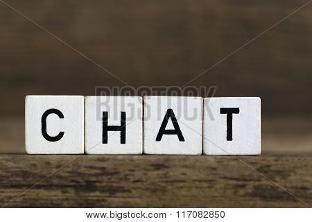 The Word Chat Written In Cubes